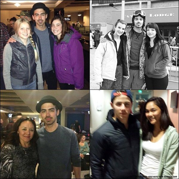 Le 28 & 29 Mars 2014 | Joe et Nick sont ensemble à Mammoth.