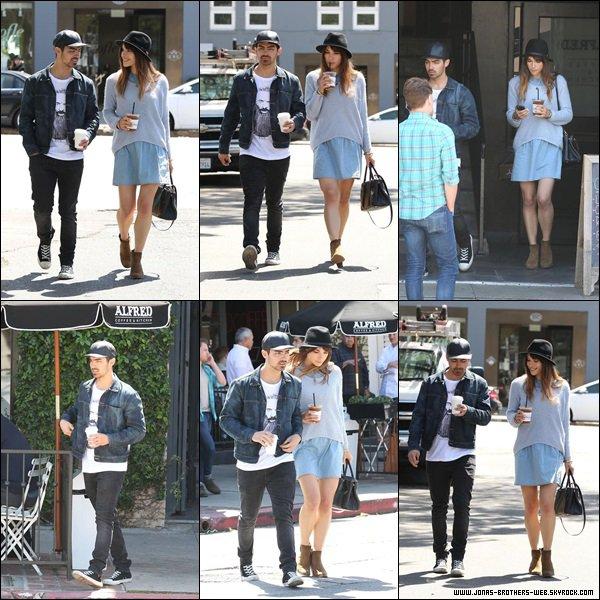 Le 31 Mars 2014 | Joe et Blanda quittant le Alfred Cafe à L.A.