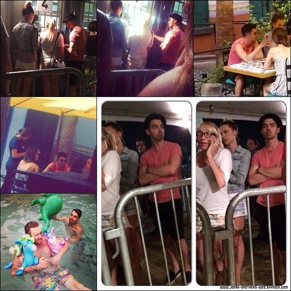 Le 10 Avril 2014 | Joe, Blanda et Maya sont arrivé à Coachella pour le festivals.