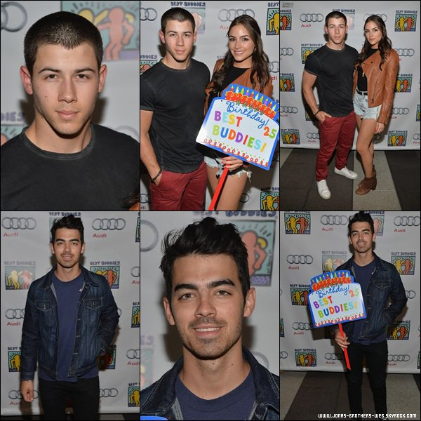 Le 27 Avril 2014 | Joe, Nick et Olivia au Audi Best Buddies' Bowling For Buddies, L.A.