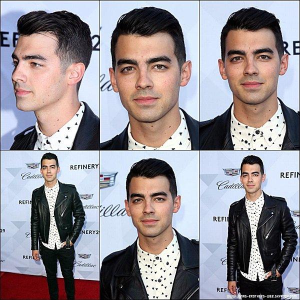 Le 19 Juin 2014 | Joe est allé à la soirée Cadillac and Refinery29 avec Blanda, Los Angeles.