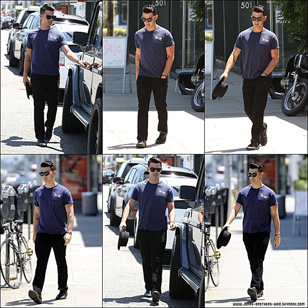 Le 09 Juin 2014 |  Joe sortant du coiffeur dans West Hollywood.