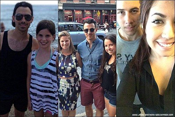 Le 17 Juillet 2014 | Nick, très classe, quittant son hôtel de New York.