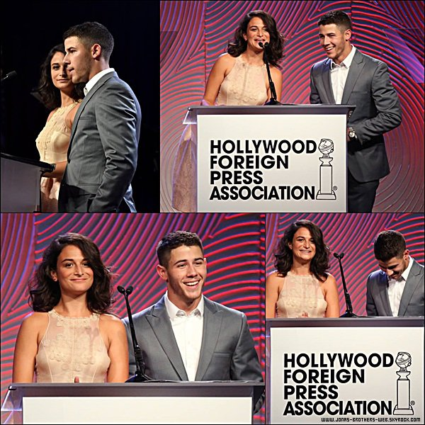 "Le 14 Août 2014 | Nick s'est rendu au ""Hollywood Foreign Press Association's Grants Banquet"", Berverlly Hills."