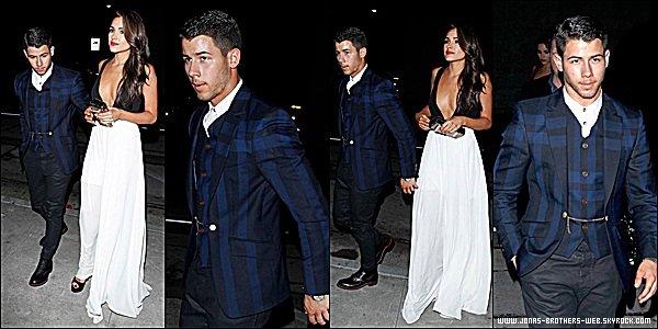 Le 24 Août 2014 | Nick à l'after-party des MTV Vidéo Music Award en Californie.