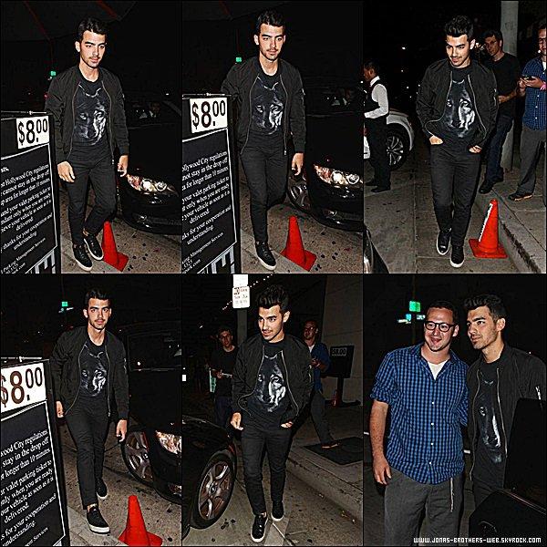 Le 27 Août 2014 | Joe a fais une sortie dans Los Angeles.