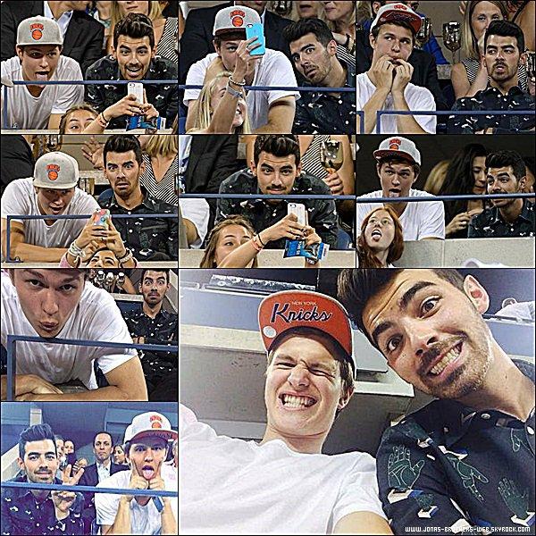 Le 03 Septembre 2014 | Joe et son ami Ansel Elgort sont allé à l'U.S. Open de New York.