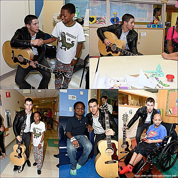 Le 08 Septembre 2014 | Nick est allé au Children's Hospital At Montefiore, New York.