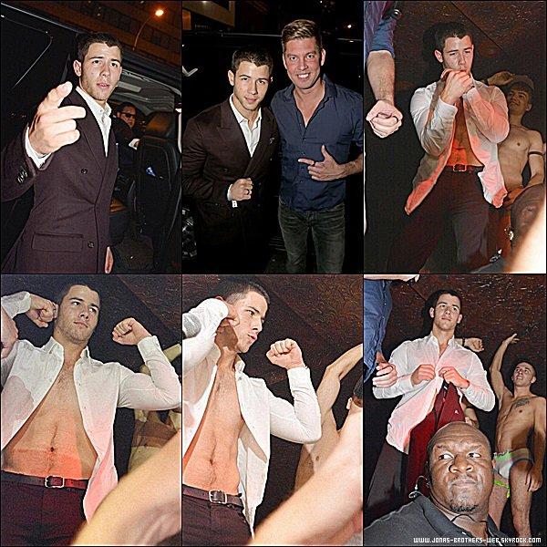 Le 08 Septembre 2014 | Nick est allé dans la boite de nuit BPM Club Gay de New York.