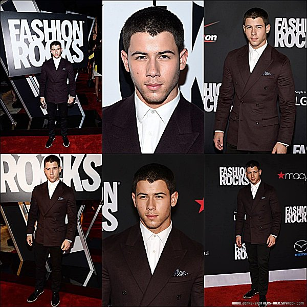 Le 09 Septembre 2014 | Joe et Nick sont présent au Fashion Rocks 2014 à New York.