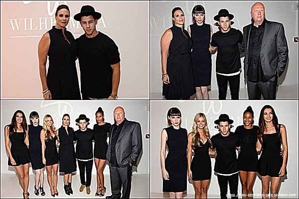 Le 10 Septembre 2014 | Nick est allé au Wilhelmina Models Fashion Week Party, New York.