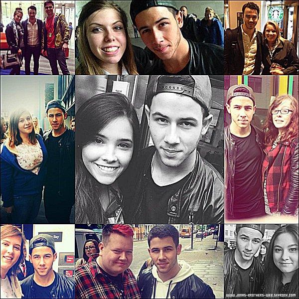 Le 17 Octobre 2014 | Nick arrivant au Chiltern Firehouse à Londres.