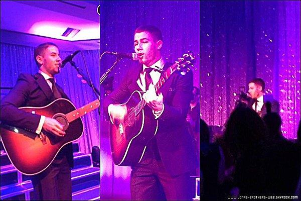 Le 01 Novembre 2014 | Nick a chanté au Bar Mitzvah.