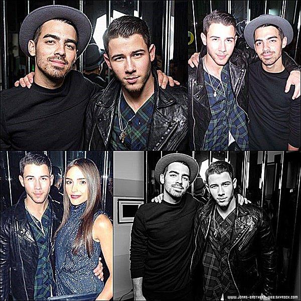 Le 10 Novembre 2014 | Joe et Nick au Flaunt Magazine Cover Party, Los Angeles.