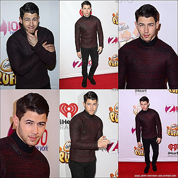 Le 12 Décembre 2014 | Nick présent au Z100s Jingle Ball 2014 de New York.