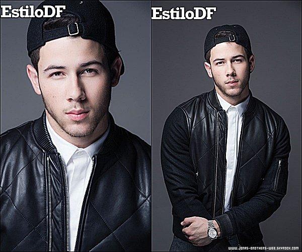 Photoshoot | Nick a poser pour Estilo D.F Mexico.