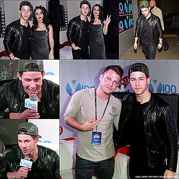 Le 21 Décembre 2014 | Nick été présent au Y100's Jingle Ball 2014 à Miami.