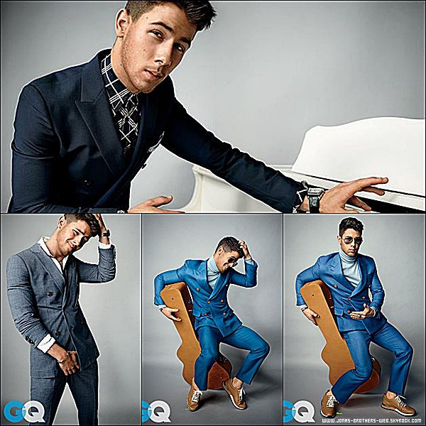 Photoshoot | Nick a posé devant les appareils photos du magazine GQ.
