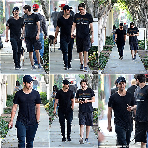 Le 21 Janvier 2015 | Joe et son ami prit en photo en balade dans West Hollywood.