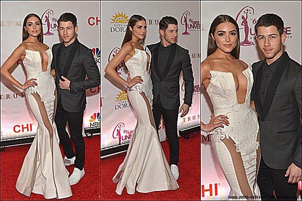 Le 25 Janvier 2015 | Nick et Olivia au 63rd Annual Miss Universe Pageant en Floride.