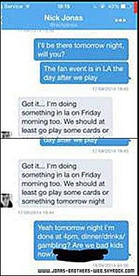 Twitter | Taylor Swift s'est fait hacker son Twitter et une conversation avec Nick a été dévoilé ;