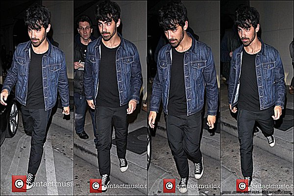 Le 28 Janvier 2015 | Joe quittant le restaurant Craig's dans West Hollywood.