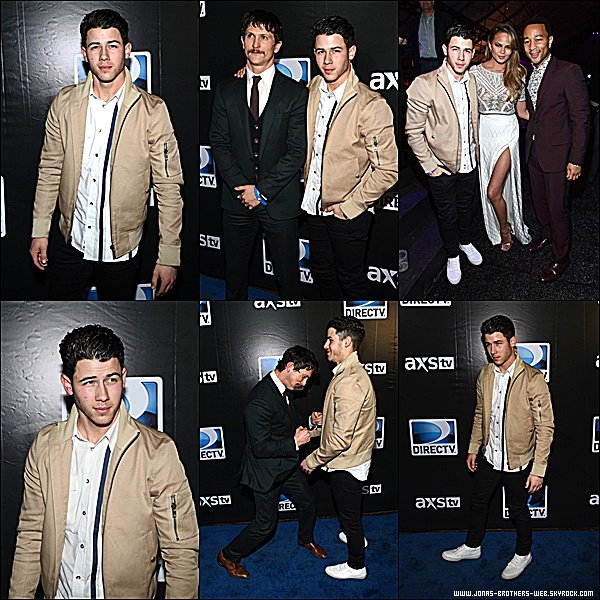 Le 31 Janvier 2015 | Nick est allé au DirecTV Super Saturday Night, Glandale.