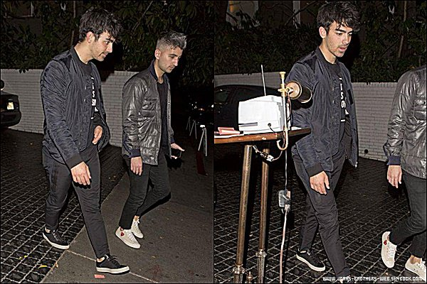 Le 02 Février 2015 | Joe et Nick quittant le King Road Café dans West Hollywood.