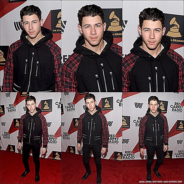 Le 06 Février 2015 | Nick au Backstage At The GRAMMYs Westwood One Radio Remotes - Day 2 à Los Angeles.