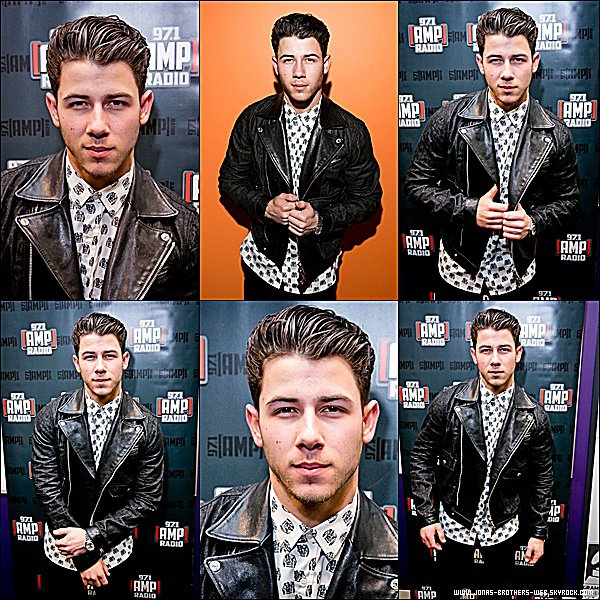 Le 06 Février 2015 | Nick est allé au AMP Radio's 97.1 Pre GRAMMY Party au The GRAMMY Museum à L.A.