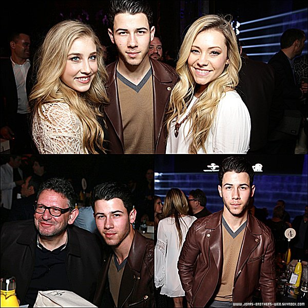 Le 07 Février 2015 | Nick au Lucian Grainge's 2015 Artist Showcase Presented by American Airlines and Citi.