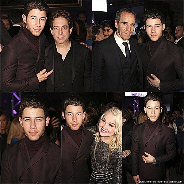 Le 08 Février 2015 | Nick et Olivia au Universal Music Group Post Grammy Party à Los Angeles.