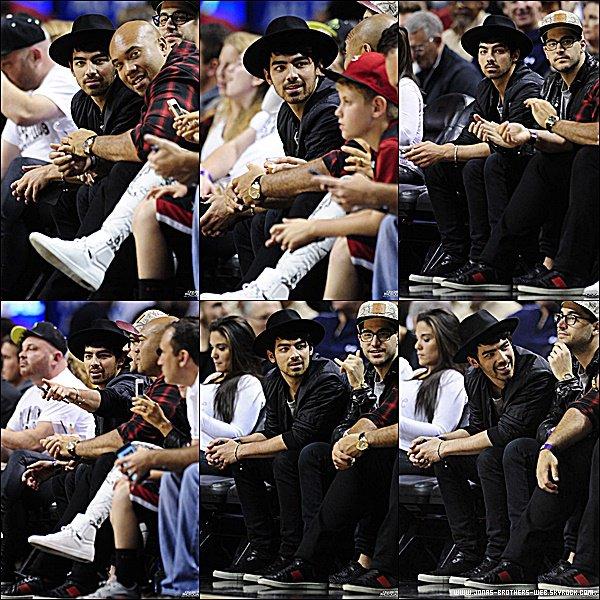 Le 09 Février 2015 | Joe et ses amis ont été voir le match des Miami Heat vs New York Knicks à Miami.