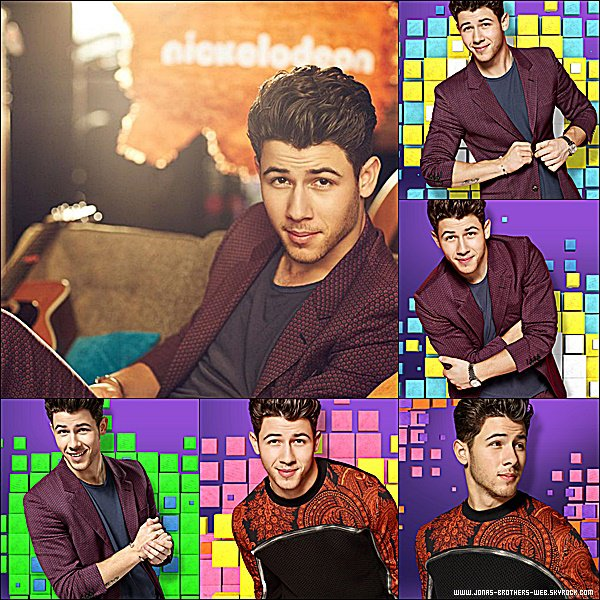 Photoshoot | Nick pose pour un shoot promotionnelle des Kids Choice Awards 2015 qu'il présentera le 28 Mars.
