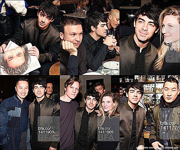 Le 18 Février 2015 | Joe s'est rendu à la soirée de The Last Magazine & Phillip Lim à New York.