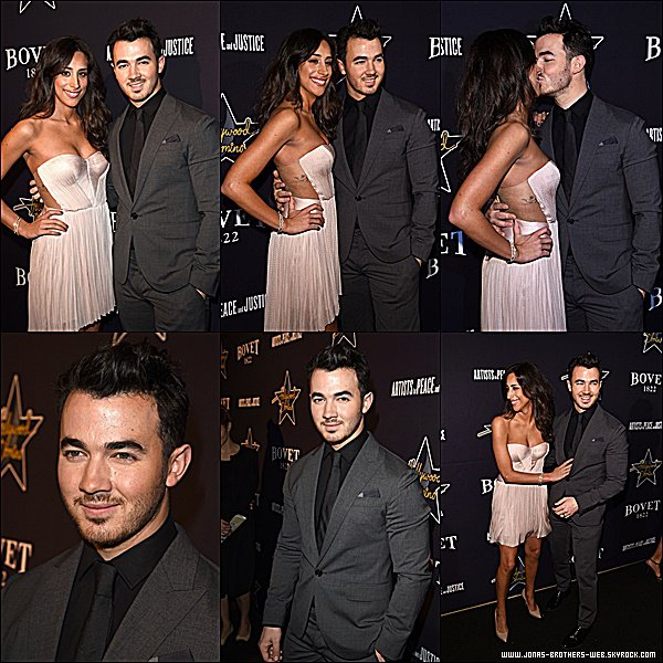 Le 19 Février 2015 | Kevin et Danielle au 8th annual Hollywood Domino Gala au the Sunset Tower Hote à L.A.