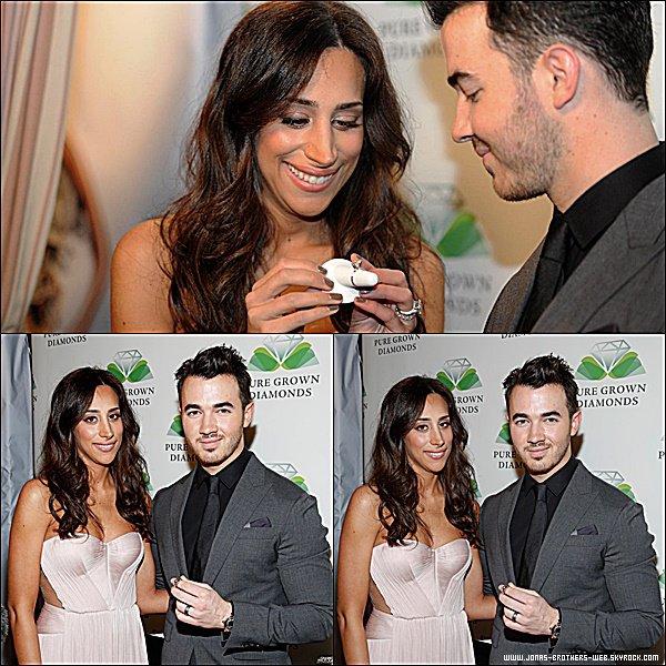 Le 19 Février 2015 | Kevin et Danielle au 8th annual Hollywood Domino Gala au the Sunset Tower Hote à L.A.