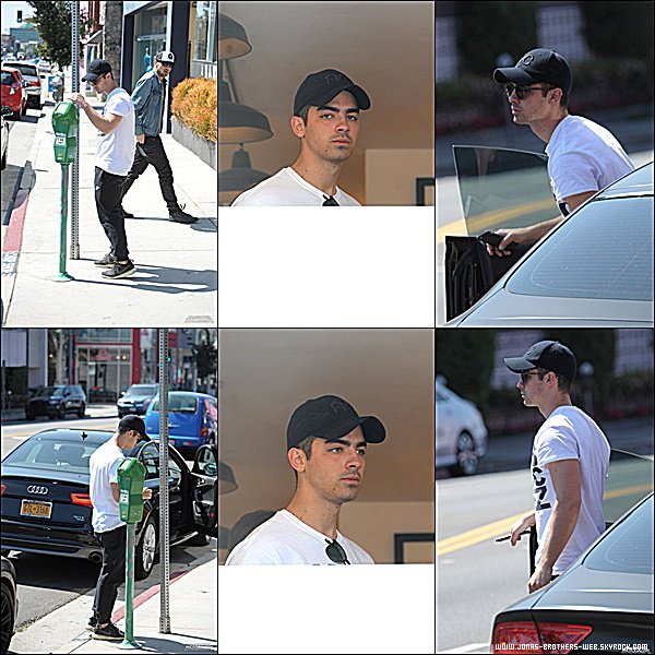 Le 23 Mars 2015 | Joe et son ami entrain de prendre du bon temps dans West Hollywood.
