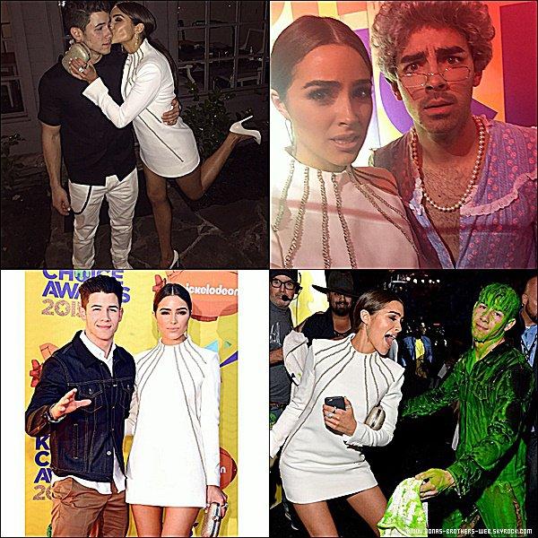 Le 28 Mars 2015 | Joe et Nick ainsi qu'Olivia ce sont rendu au Kids Choice Awards 2015.