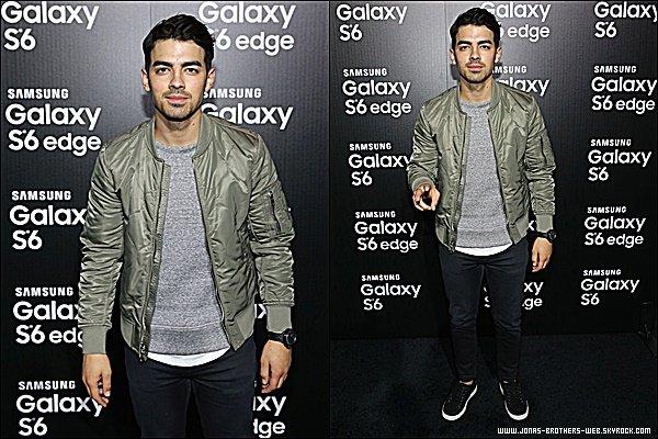 Le 02 Avril 2015 | Joe s'est rendu au Samsung Galaxy S 6 edge launch à Los Angeles.