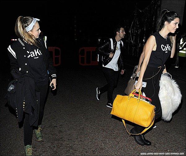 Le 27 Juin 2015 | Joe, Gigi, Kendall, Cara et  quittant le concert de Taylor Swift à Londres.