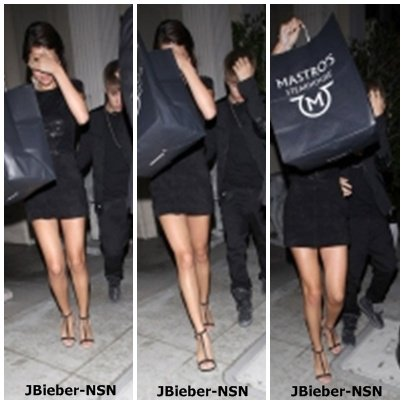 15.09.11 Justin et Selena quittant un restaurant dans Beverly Hills