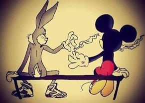 Mickey fume hou la la