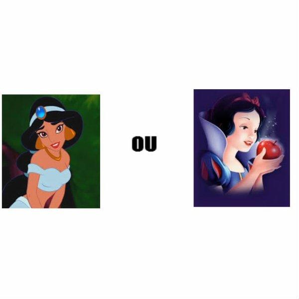 Jasmine ou blanche neige qui est la meilleur ?