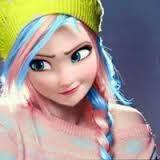Anna (en rose et bleu)