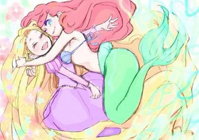 ♥ Ariel et Raiponce ♥