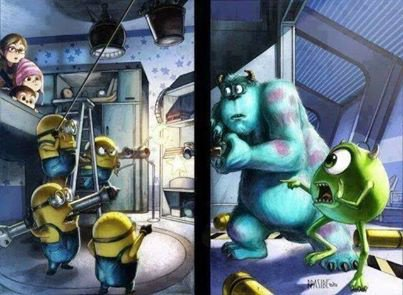 Minion vs Monstre & co