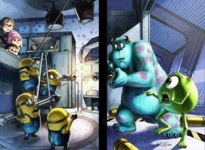 Minion vs Monstre & co