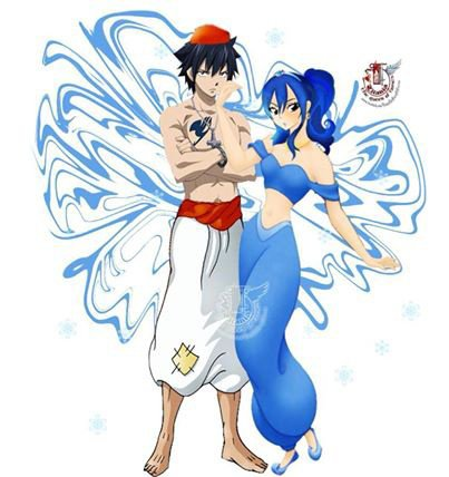 Jasmine et Aladin version fairy tail