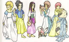Les princesses version naruto